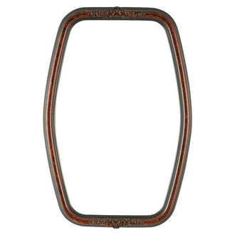 Contessa Hexagon Frame #554 - Vintage Walnut