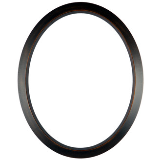 423 Rubbed Bronze Oval Frame