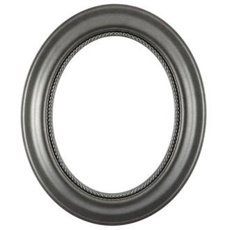 Heritage Oval Frame # 458 - Black Silver
