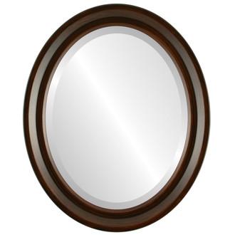 Newport Beveled Oval Mirror Frame in Mocha