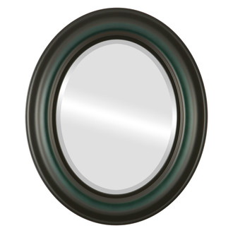 Lancaster Beveled Oval Mirror Frame in Hunter Green