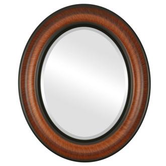Lancaster Beveled Oval Mirror Frame in Vintage Walnut