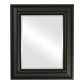 Lancaster Beveled Rectangle Mirror Frame in Matte Black