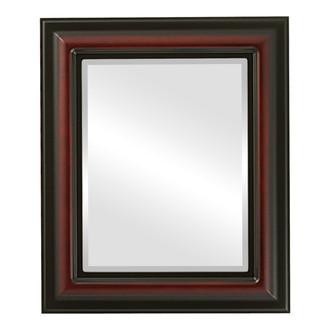 Lancaster Beveled Rectangle Mirror Frame in Rosewood