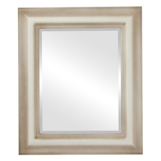 Lancaster Beveled Rectangle Mirror Frame in Taupe
