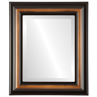 Lancaster Beveled Rectangle Mirror Frame in Walnut