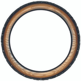 Brookline Round Frame # 101 - Toasted Oak