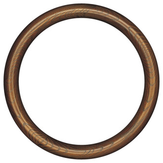 Sydney Round Frame # 200 - Toasted Oak