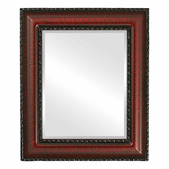 Somerset Beveled Rectangle Mirror Frame in Vintage Cherry