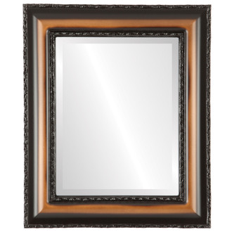 Somerset Beveled Rectangle Mirror Frame in Walnut