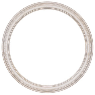 Melbourne Round Frame # 300 - Country White