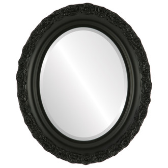 Venice Beveled Oval Mirror Frame in Matte Black