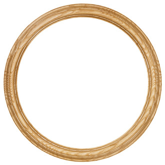 Melbourne Round Frame # 300 - Honey Oak
