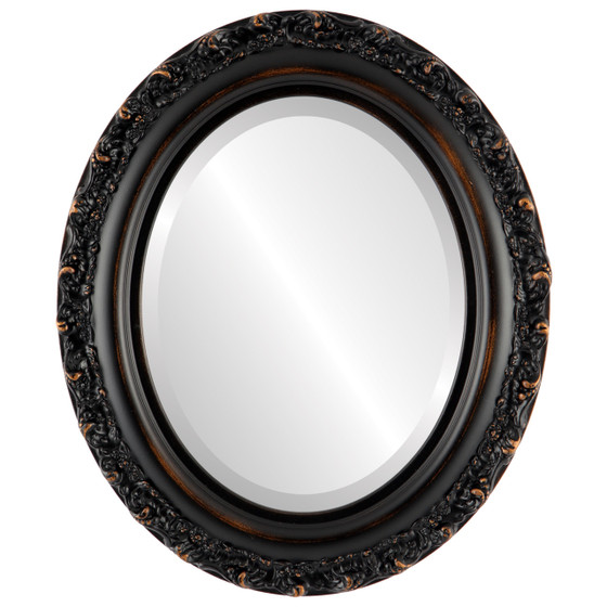 Black Oval Mirrors from $146| Venice Rubbed Bronze| Free Shipping