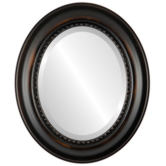 Chicago Beveled Oval Mirror Frame in Rubbed Bronze