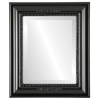 Boston Beveled Rectangle Mirror Frame in Gloss Black