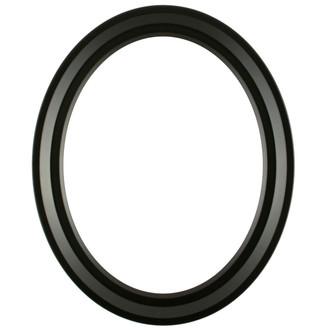 Newport Oval Frame # 422 - Matte Black