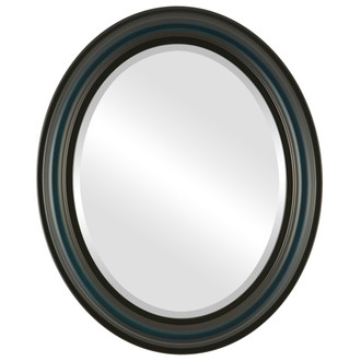 Philadelphia Beveled Oval Mirror Frame in Royal Blue