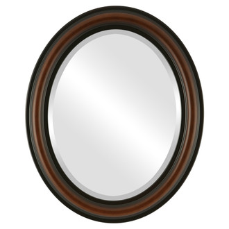 Philadelphia Beveled Oval Mirror Frame in Walnut