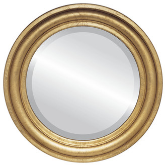 Philadelphia Beveled Round Mirror Frame in Gold Leaf