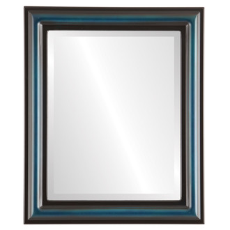 Philadelphia Beveled Rectangle Mirror Frame in Royal Blue