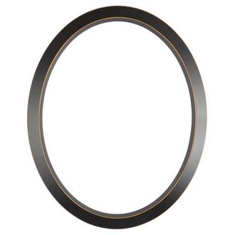 Regatta Oval Frame # 423 - Rubbed Black