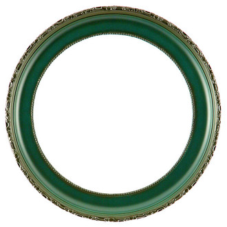Kensington Round Frame # 401 - Hunter Green