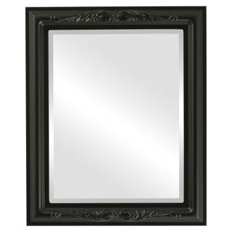 Florence Beveled Rectangle Mirror Frame in Matte Black