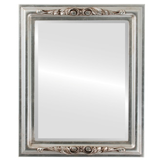 Florence Beveled Rectangle Mirror Frame in Silver Leaf with Brown Antique