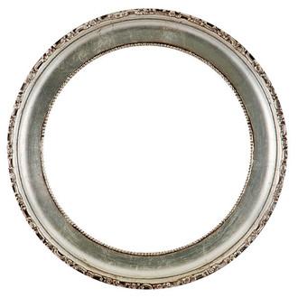 Kensington Round Frame # 401 - Silver Leaf with Brown Antique
