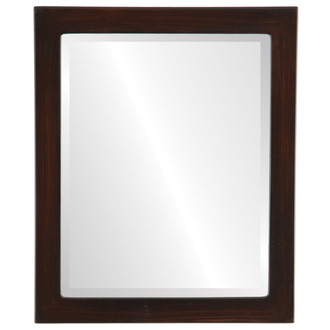 Vienna Beveled Rectangle Mirror Frame in Mocha