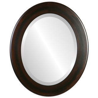 Cafe Beveled Oval Mirror Frame in Mocha