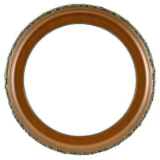 Kensington Round Frame # 401 - Walnut