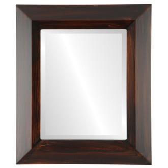 Veneto Bevelled Rectangle Mirror Frame in Mocha