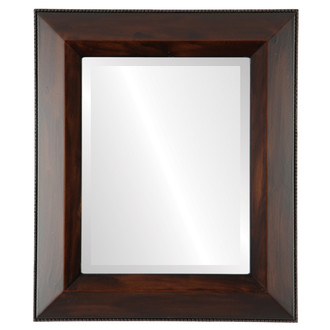 Lombardia Beveled Rectangle Mirror Frame in Mocha