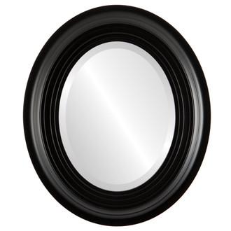 Imperial Beveled Oval Mirror Frame in Matte Black