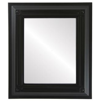Imperial Beveled Rectangle Mirror Frame in Matte Black