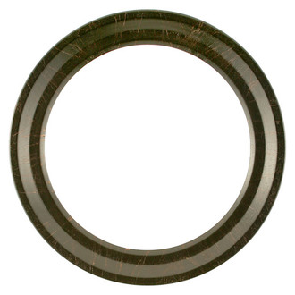 Newport Round Frame # 422 - Veined Onyx