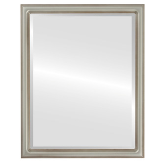 Saratoga Beveled Rectangle Mirror Frame in Silver Shade