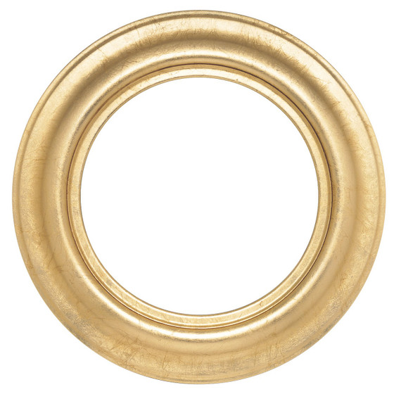 Round Frame in Gold Leaf Finish| Simple Gold Picture Frames