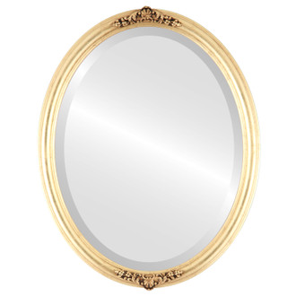 Contessa Beveled Oval Mirror Frame in Gold Leaf