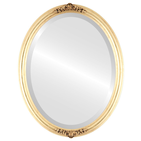 oval mirror frame. Delighful Oval Contessa Beveled Oval Mirror Frame In Gold Leaf With