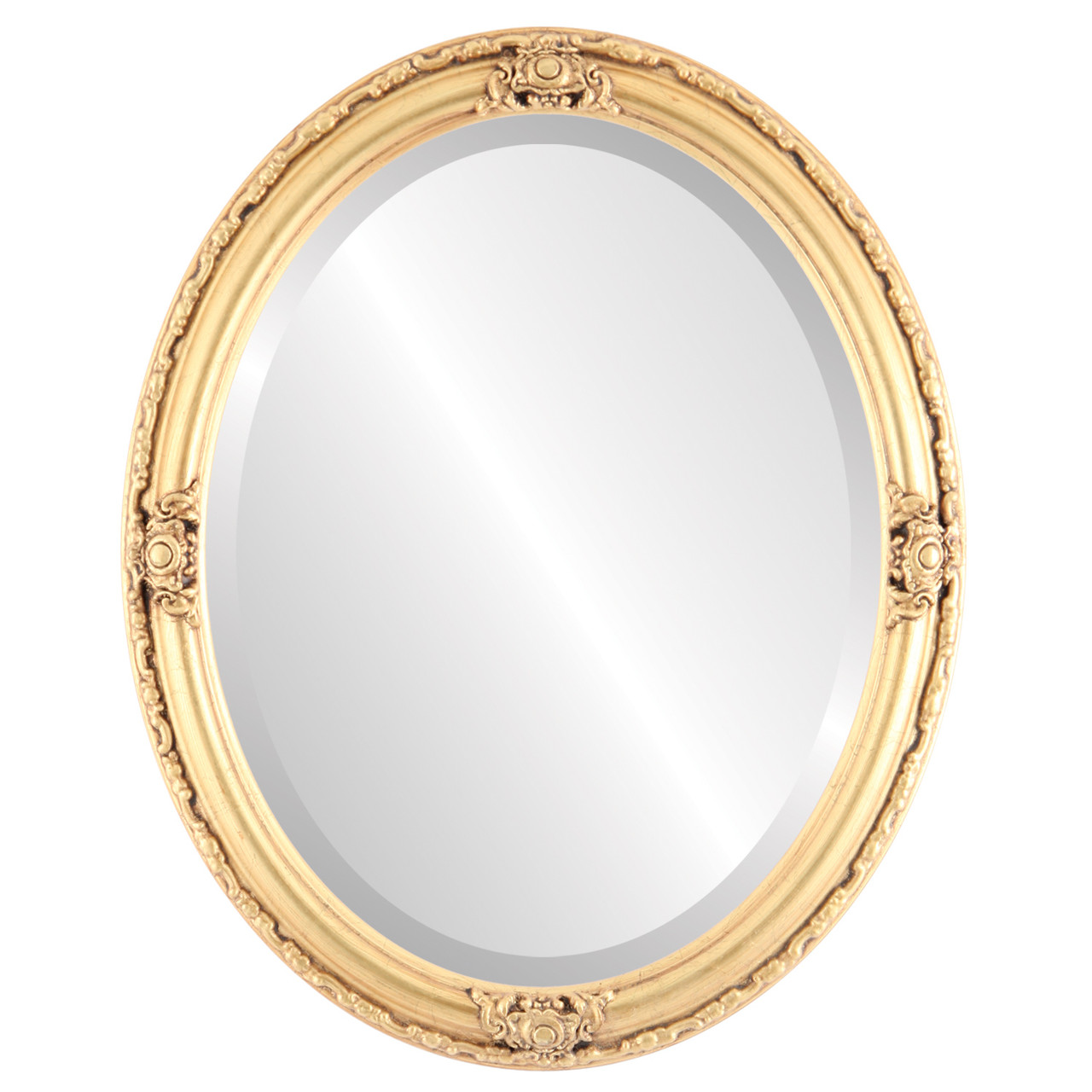 Gold Oval Mirrors from $164| Jefferson Gold Leaf| Free ...