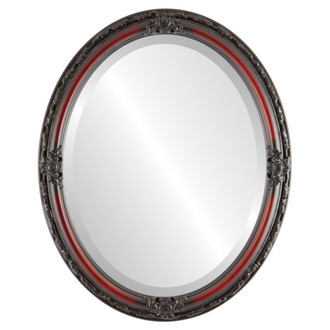Jefferson Beveled Oval Mirror Frame in Rosewood