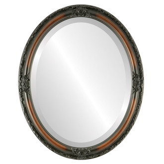 Jefferson Beveled Oval Mirror Frame in Walnut