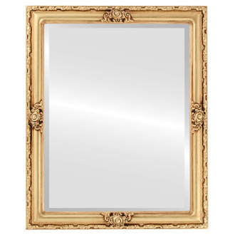 Jefferson Beveled Rectangle Mirror Frame in Gold Leaf