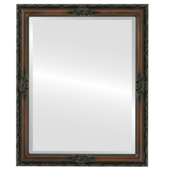 Jefferson Beveled Rectangle Mirror Frame in Walnut