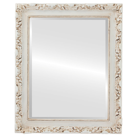 White Rectangle Mirrors From 146 Rome Antique White