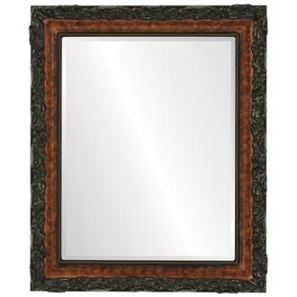 Rome Beveled Rectangle Mirror Frame in Burlwood