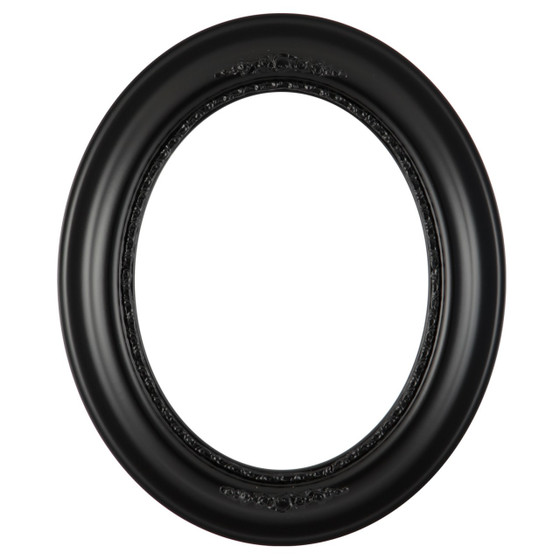 Oval Frame In Gloss Black Finish Antique Black Picture